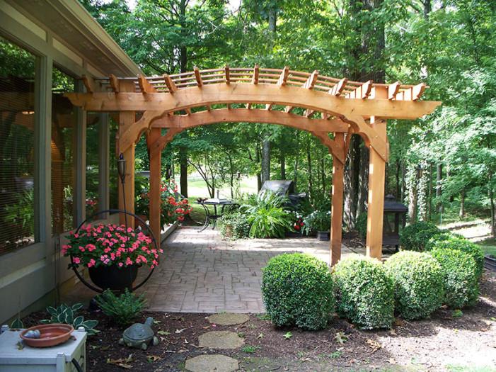 Arch Cedar Pergola made in Tennessee
