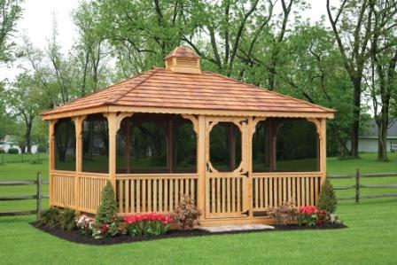 Screened in Gazebos for your yard or pool