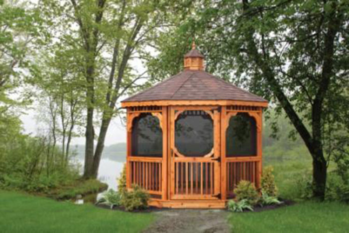 Cedar Octogan Gazebo made by the Amish and Sold in Tennesee