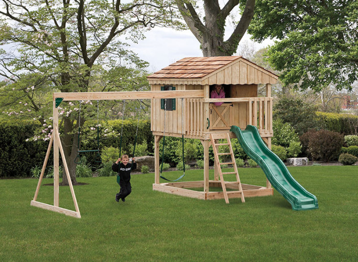 Backyard tennessee pergolas playsets storage sheds by for Playground building plans
