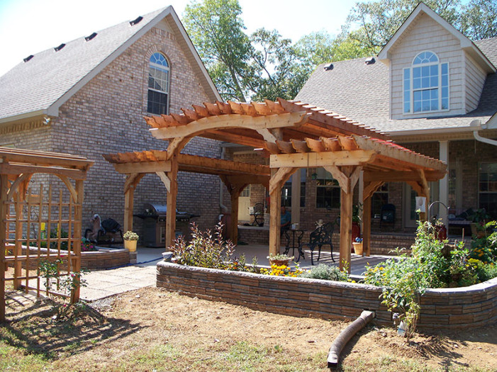 Split Level Pergola | Tennessee Pergolas, Playsets, Storage Sheds ...