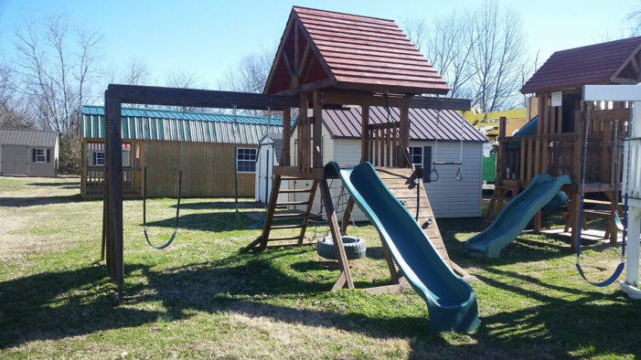 swing set play house on sale dickson