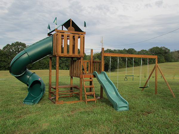 Affordable Wood Play Systems and swing sets