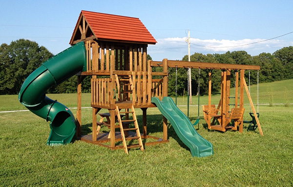 wood play system