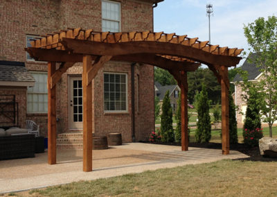 Cedar Arch with CB stain