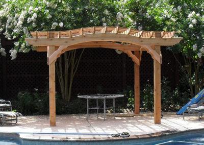 Cedar arch no stain