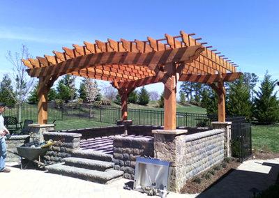 Cedar arch w cedar naturaltone stain