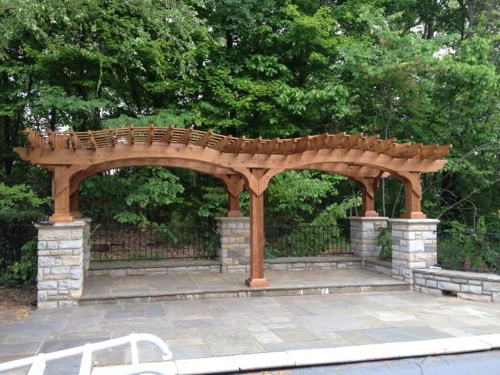 Cedar double Arch Pergola on SALE