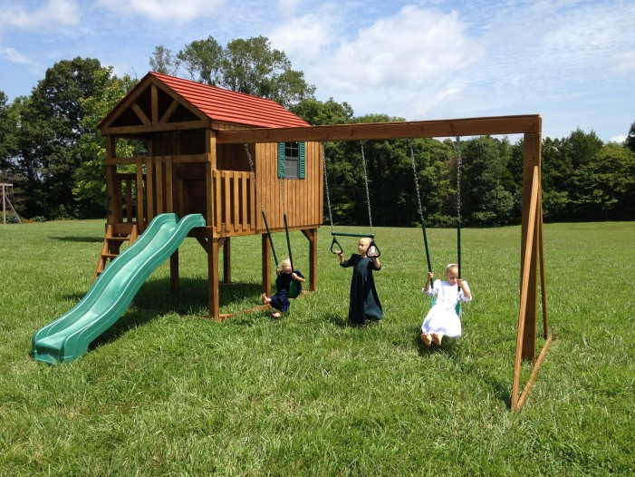 Clubby's Clubhouse Playset with swings