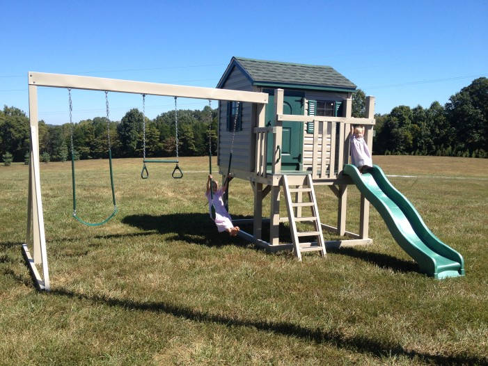 cubby's clubhouse swingset playhouse
