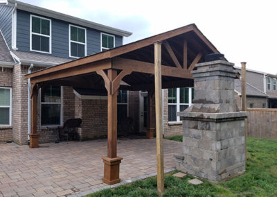 PT standard Pavilion shingles and stain