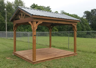 PT standard Pavilion w floor and stain