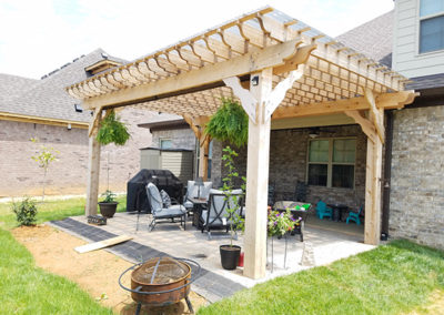 Pergola cedar no stain poly roof