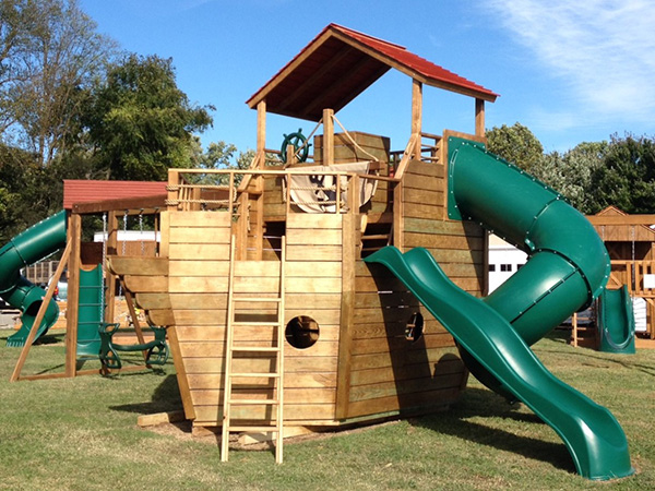 premium wood play set and swing sets