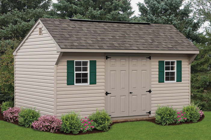 12 14 quaker style storage shed tennessee pergolas for 12x14 garage door