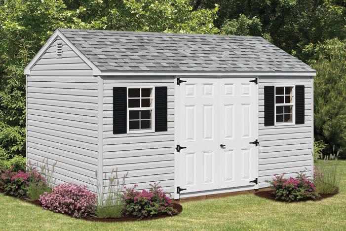 Ranch vinyl shed