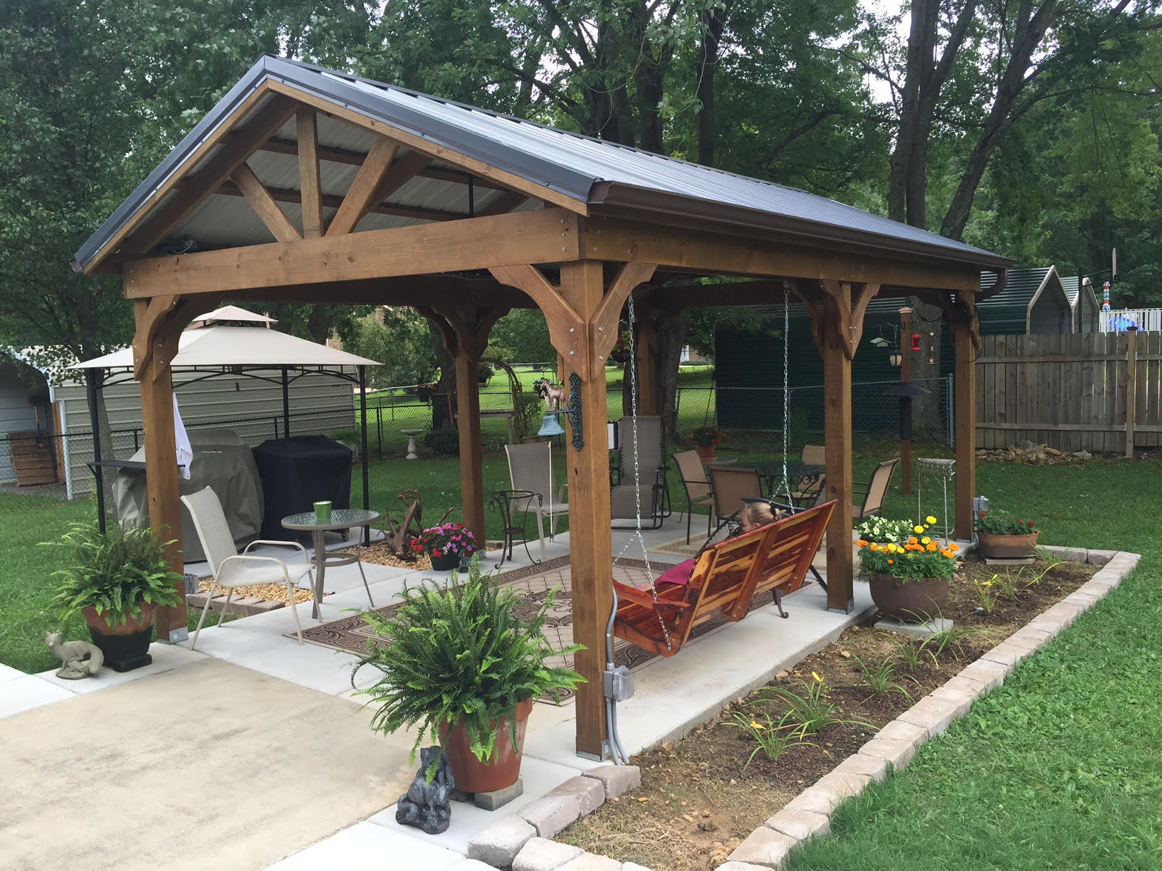 32 To 40 Wide Metal Carports Metal Garages together with Metal Roll Up Garage Door  ponents likewise High Quality Timber Buildings Garden Sheds Play Houses And Garages as well Carport Pavilion Pergola together with Wooden Structures. on large carport with storage