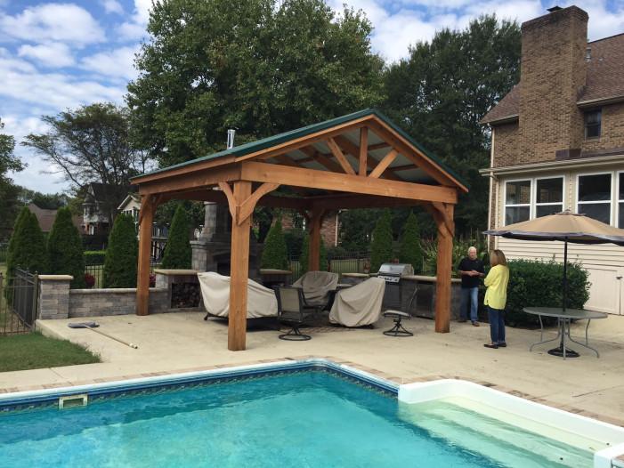 16 x 20 Cedar standard pavilion